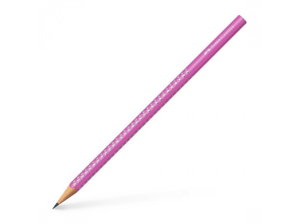Faber-Castell Grafitová tužka SPARKLE PASTELL, růžová