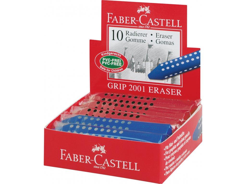 Faber-Castell Stěrací pryž GRIP 2001 tříhranná mix barev