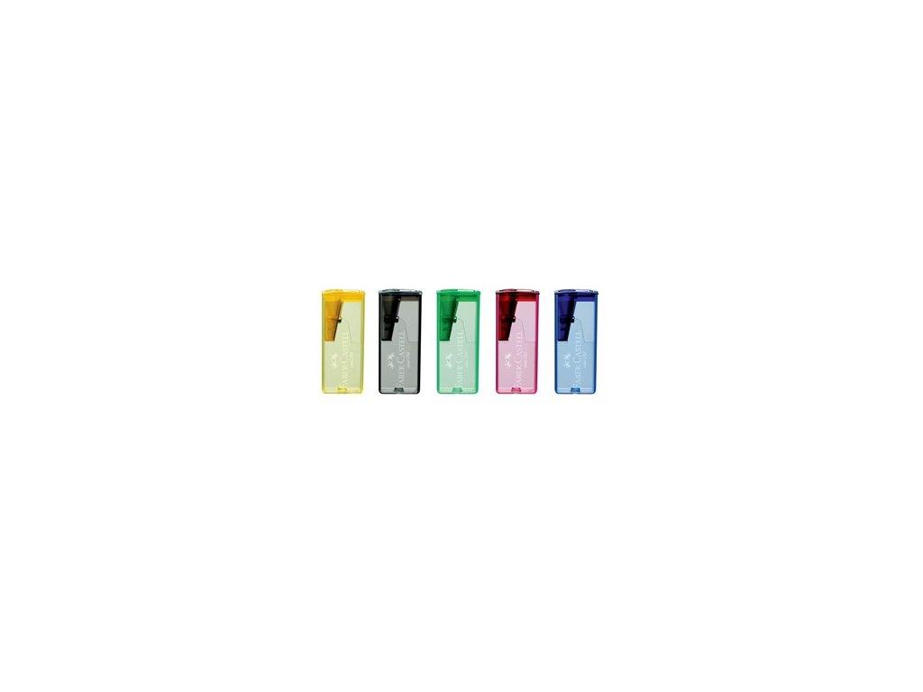 Ořezávátko plastové se zásobníkem mix barev neon