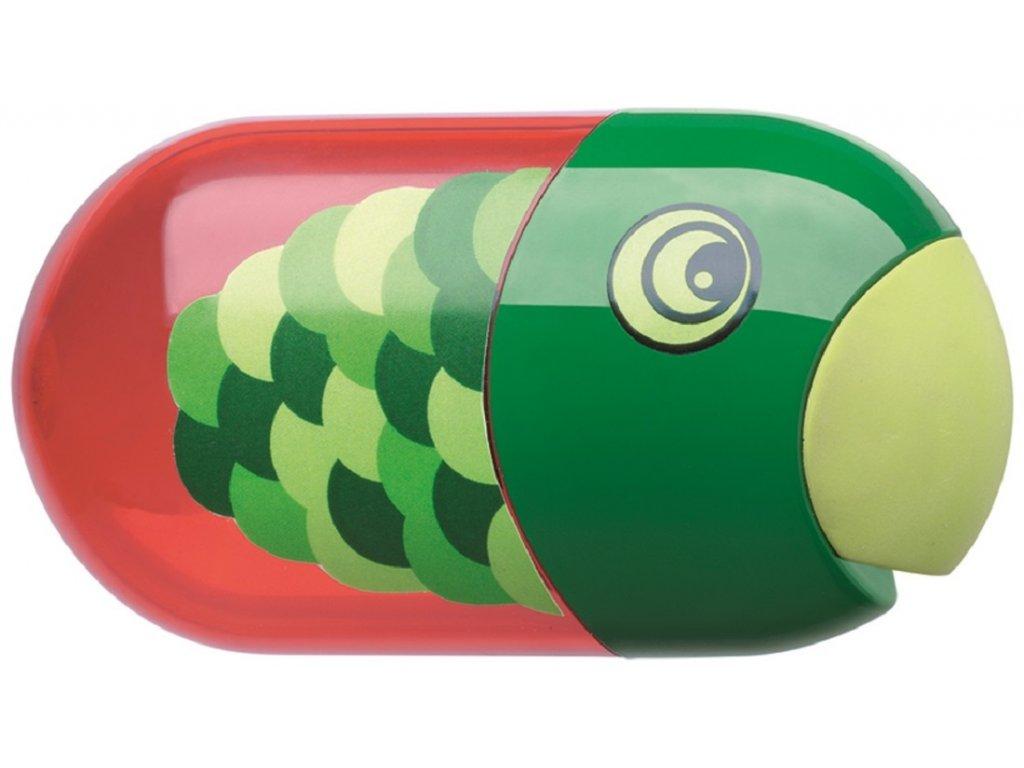 Faber-Castell Ořezávátko Fish dvojité+stěrací pryž+zásobník