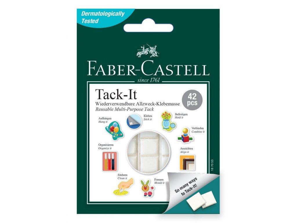 Faber-Castell Lepící hmota TACK-IT 30g, bílá - 42 čtverečků
