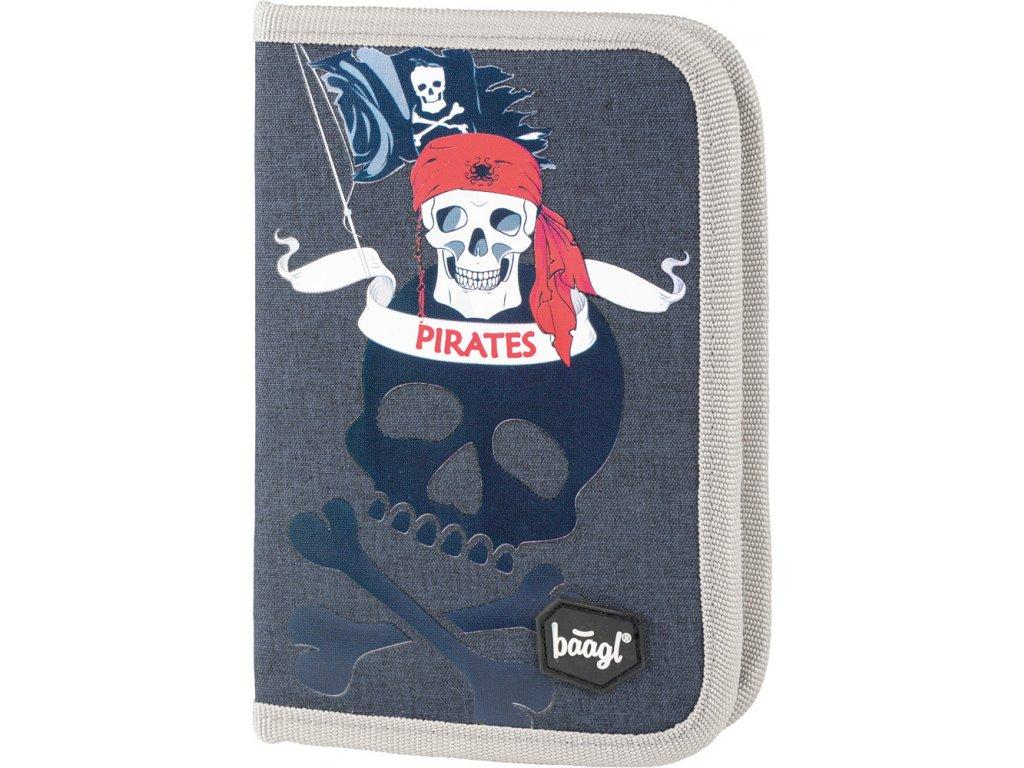 BAAGL Školní penál klasik - Piráti