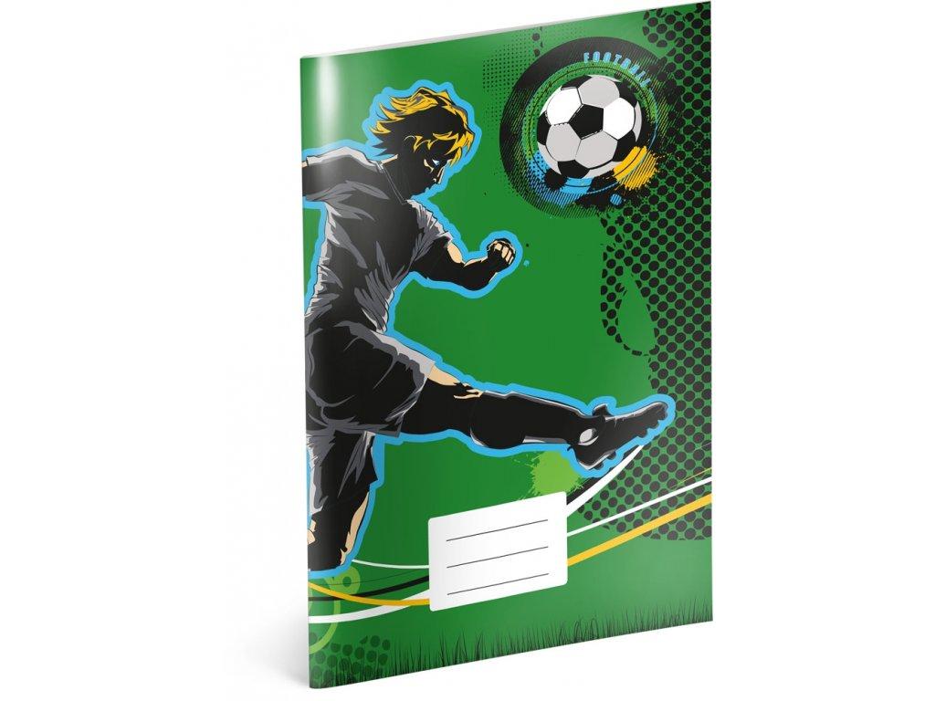 Školní sešit - Fotbal, A4, 40 listů, linkovaný