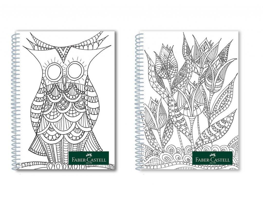 Faber-Castell Poznámkový blok Colour me - A4 linka 80 listů