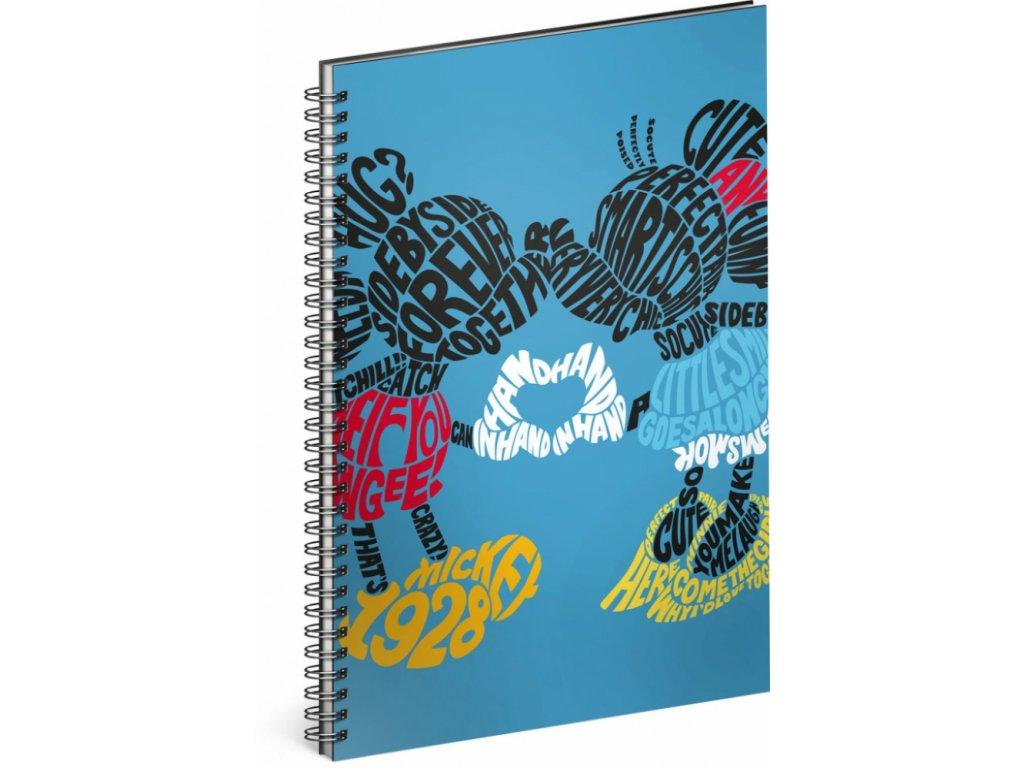 PRESCO GROUP Spirálový blok Mickey – Kiss, linkovaný, A4