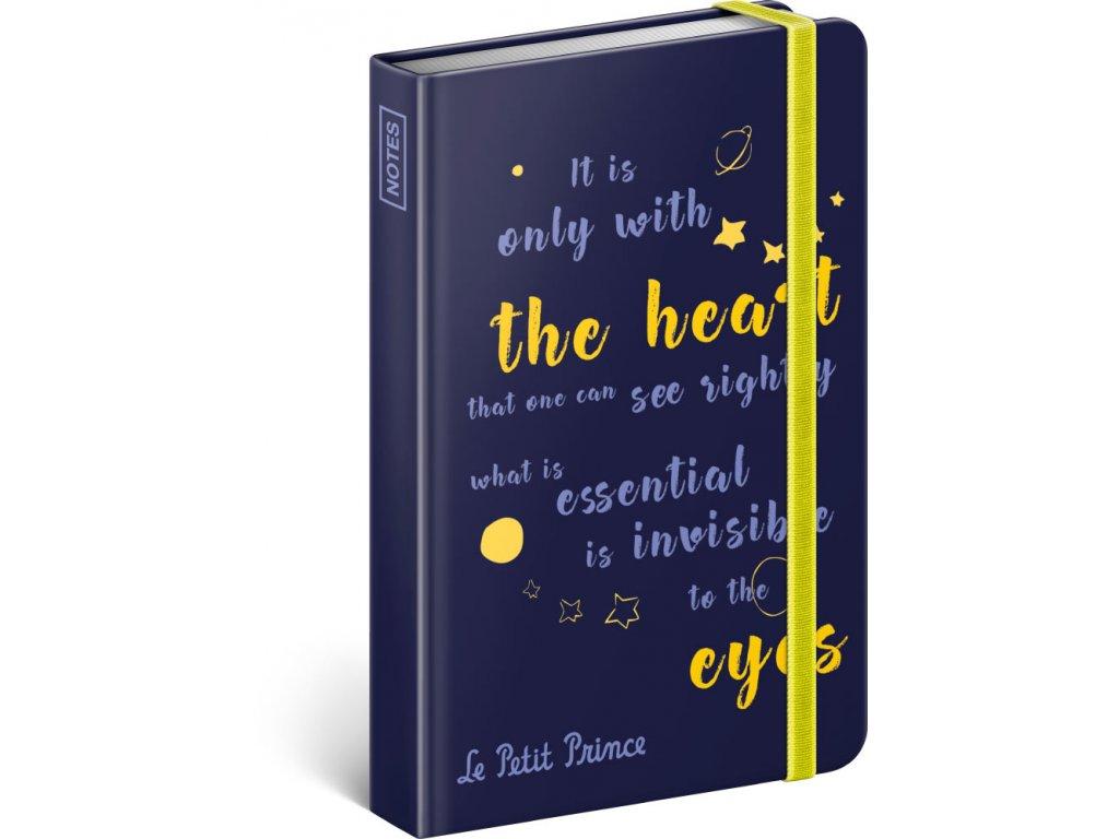 Notes Malý princ – Oči, linkovaný, 10,5 x 15,8 cm