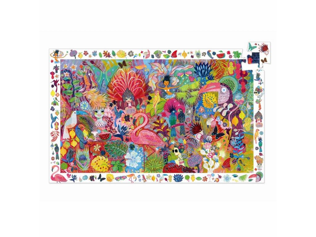 DJECO Vyhledávací puzzle - Karneval 200 dílků