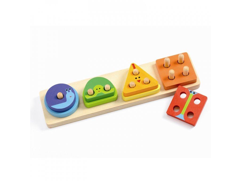 DJECO Puzzle - 1,2,3,4 základní