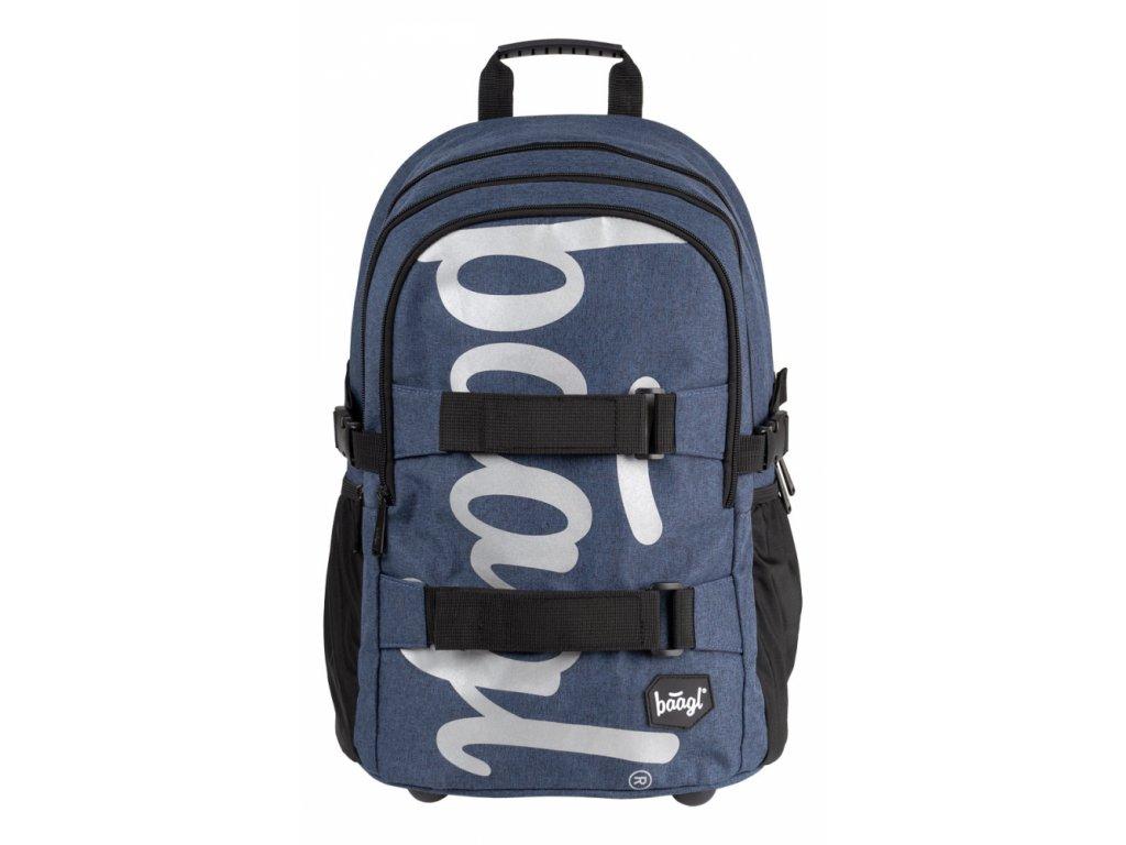 BAAGL Školní batoh skate Blue