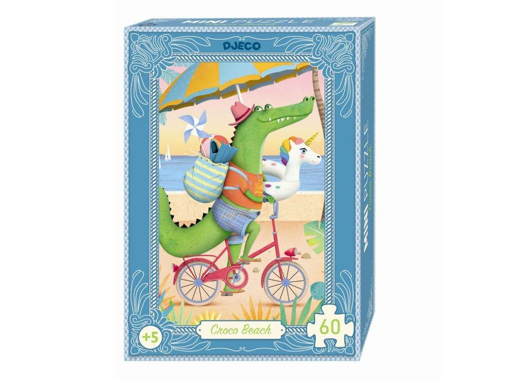 DJECO Mini puzzle  - Plážový krokodýl 60 dílků