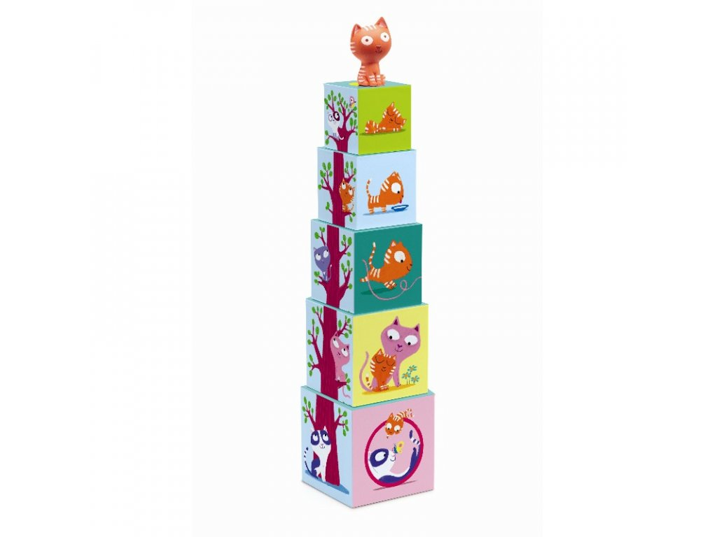 DJECO Krabičková věž s kočičkou