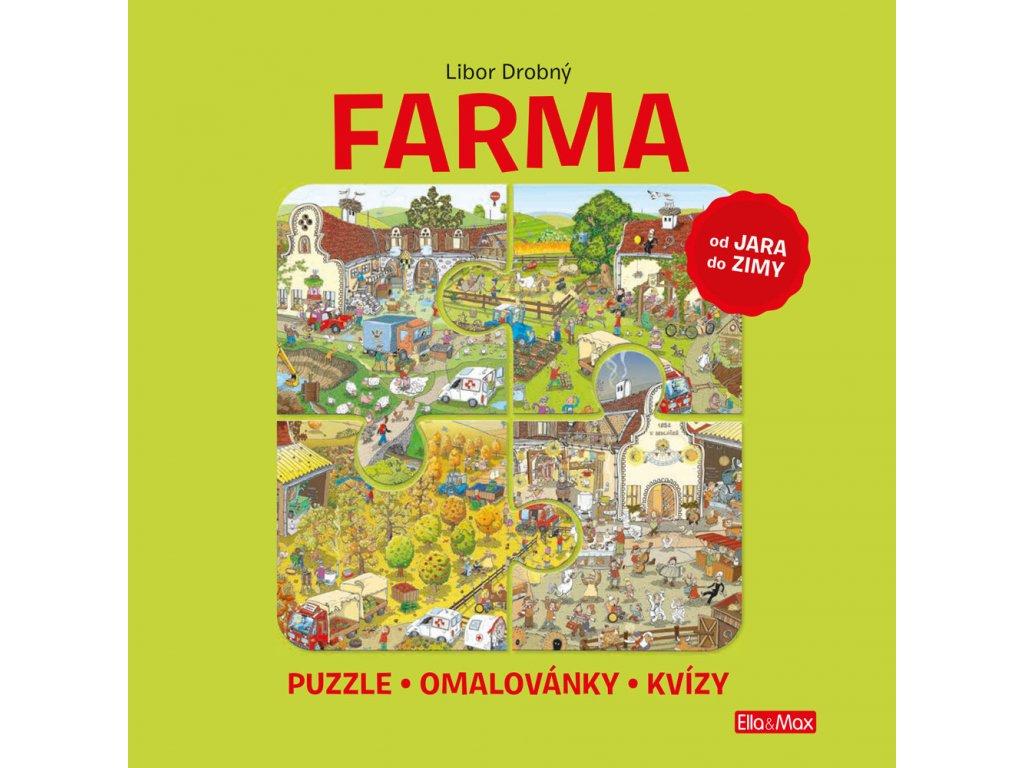 Ella&Max FARMA – Puzzle, omalovánky, kvízy - Libor Drobný