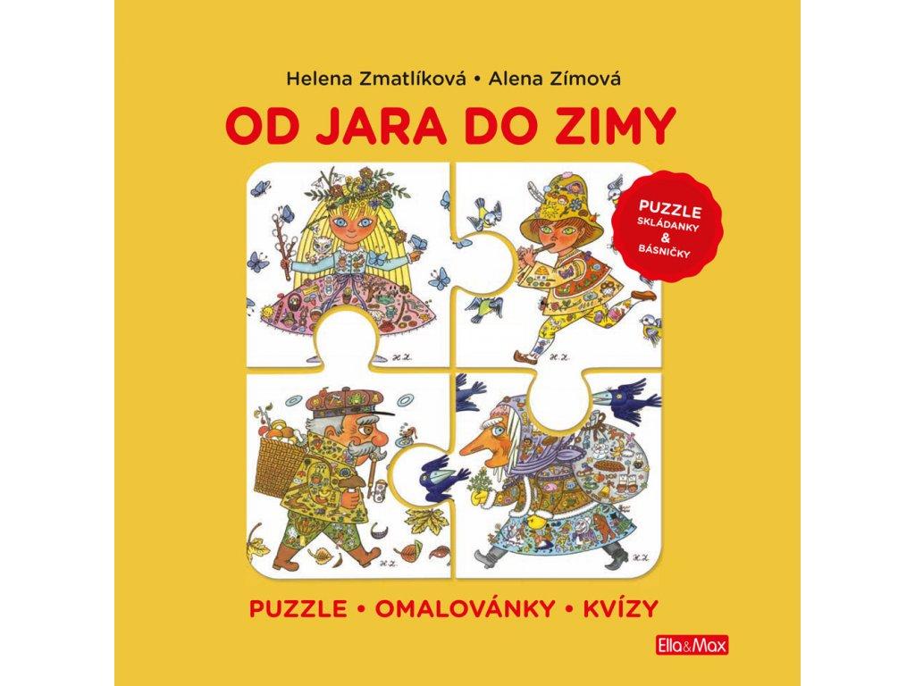Ella&Max OD JARA DO ZIMY – Puzzle, básničky, omalovánky, kvízy - Helene Zmatlíková