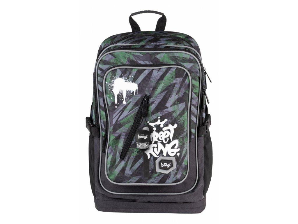 BAAGL Školní batoh Cubic Street King