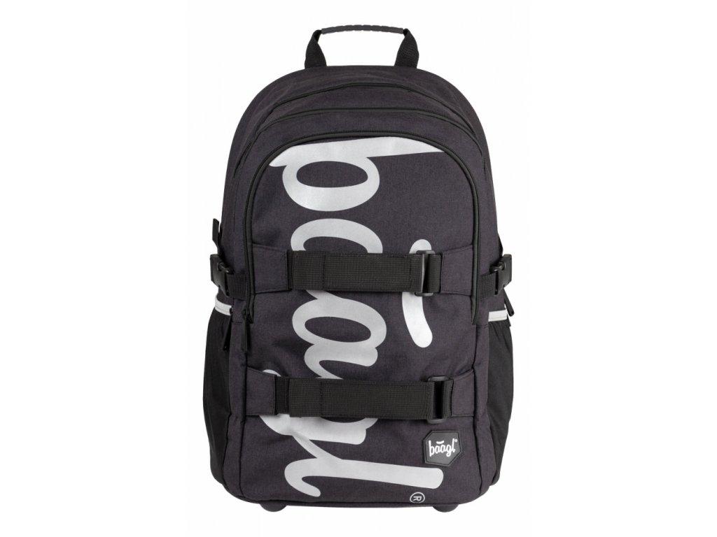 BAAGL Školní batoh skate Black