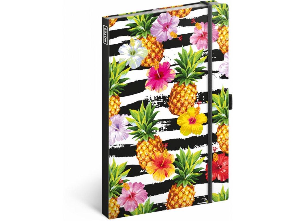 PRESCO GROUP Notes Ananasy linkovaný, 13 × 21 cm