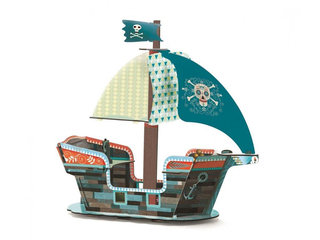 3D skládačka - Pirátská loď
