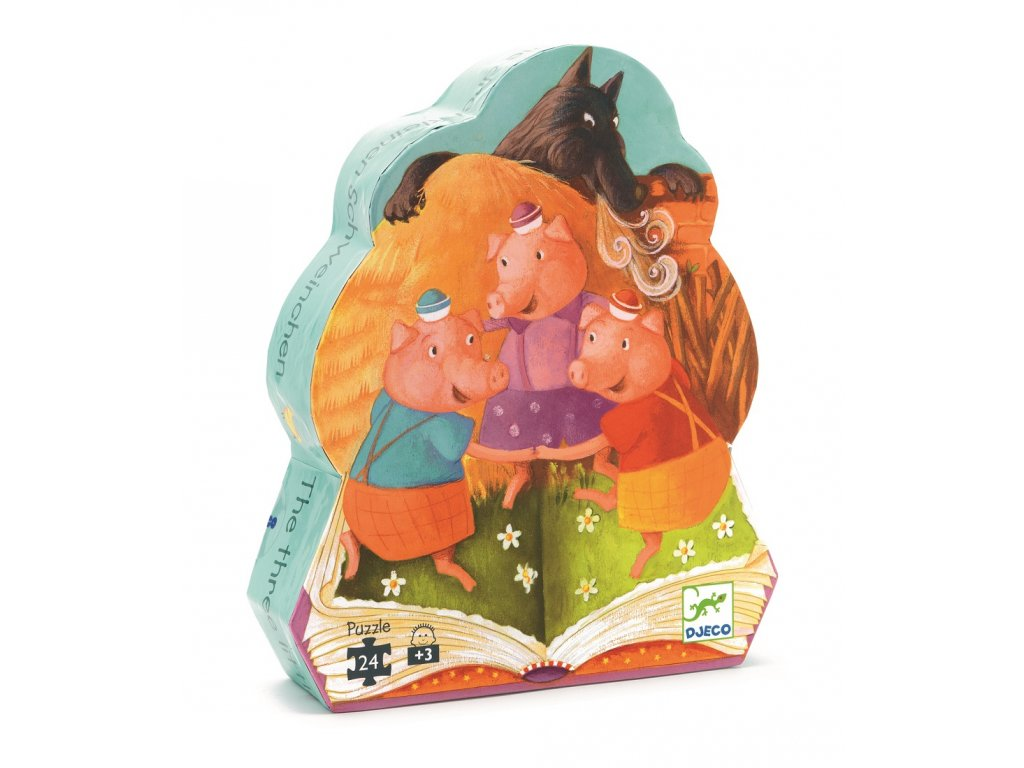 DJECO Puzzle - Tři malá prasátka