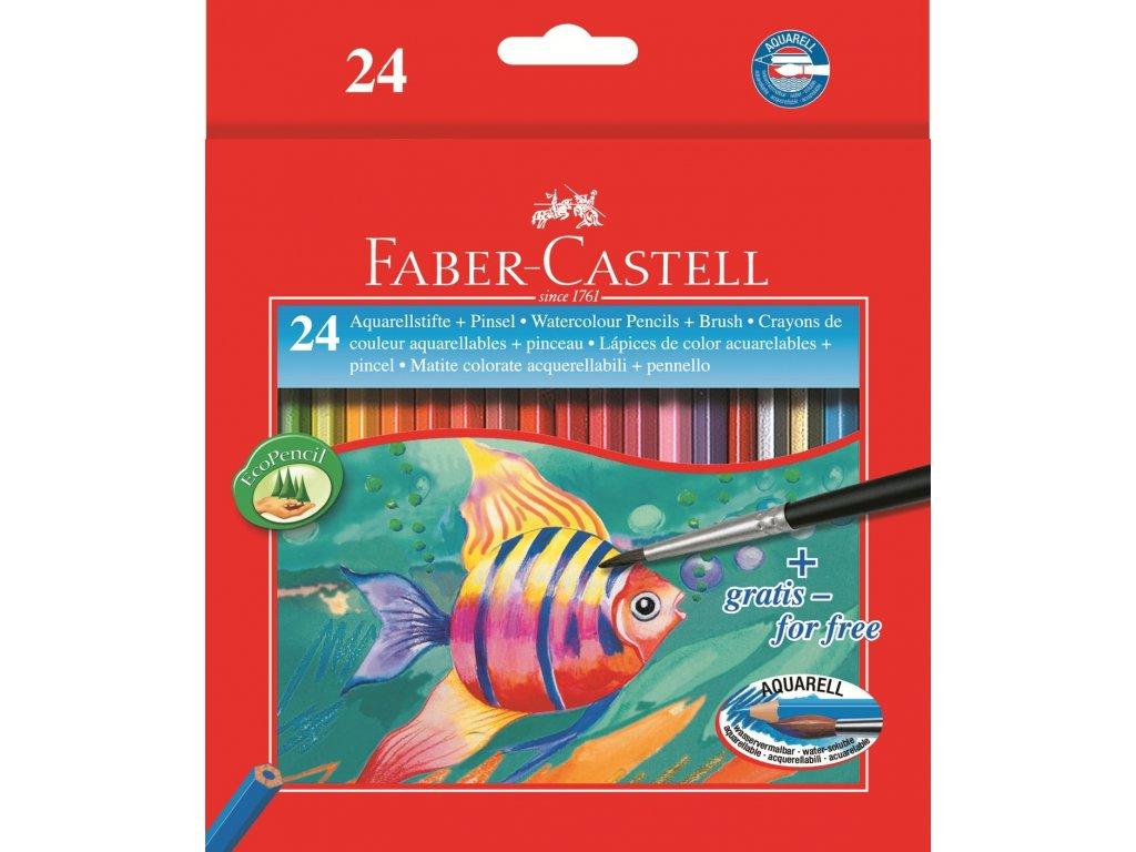 Pastelky Akvarelové pap.krabička 24ks + štěteček