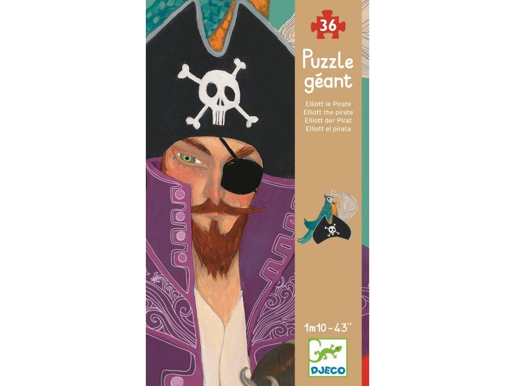 DJECO Velkoformátové puzzle - Pirát Elliott