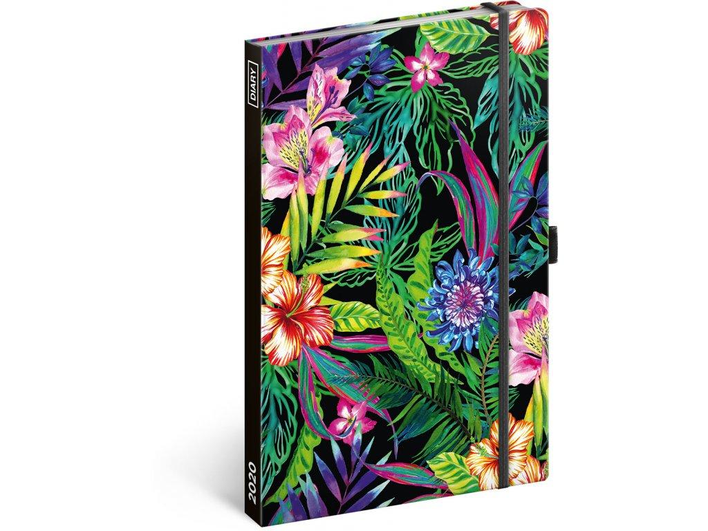 Týdenní diář Tropical 2020, 13 × 21 cm