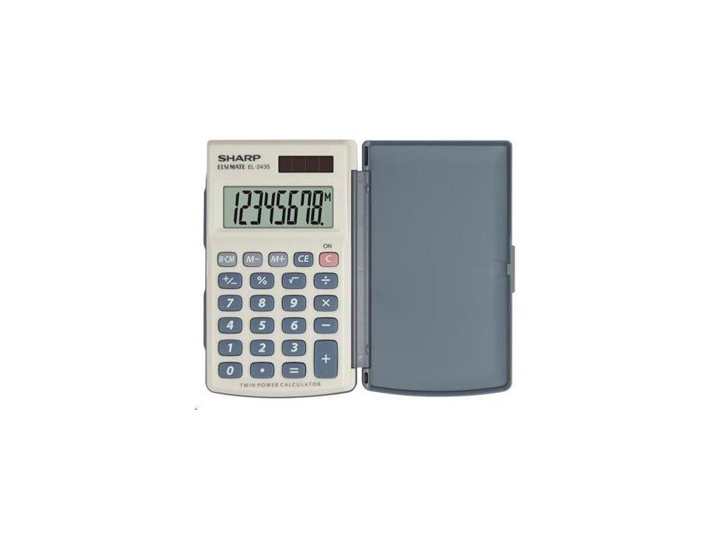 Kalkulačka Sharp EL243S,kapesní, osmimístná