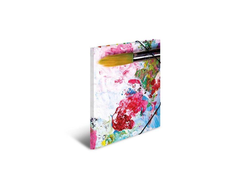 Desky s gumičkou A4 karton - barvy