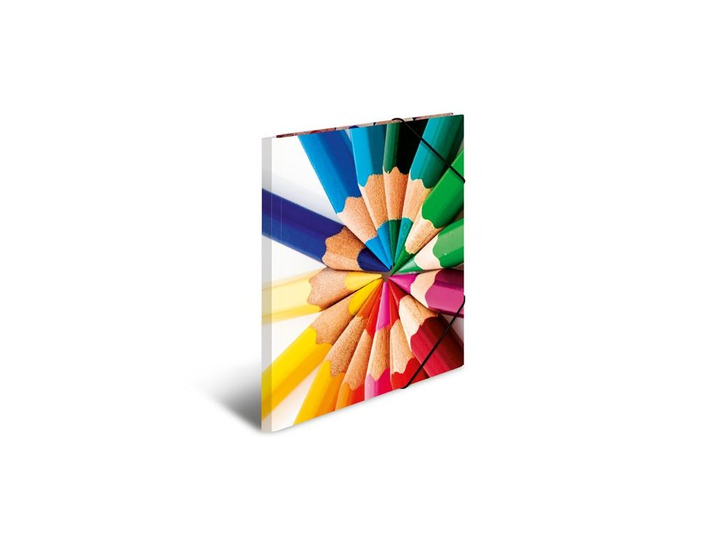 Desky s gumičkou A4 karton - tužky