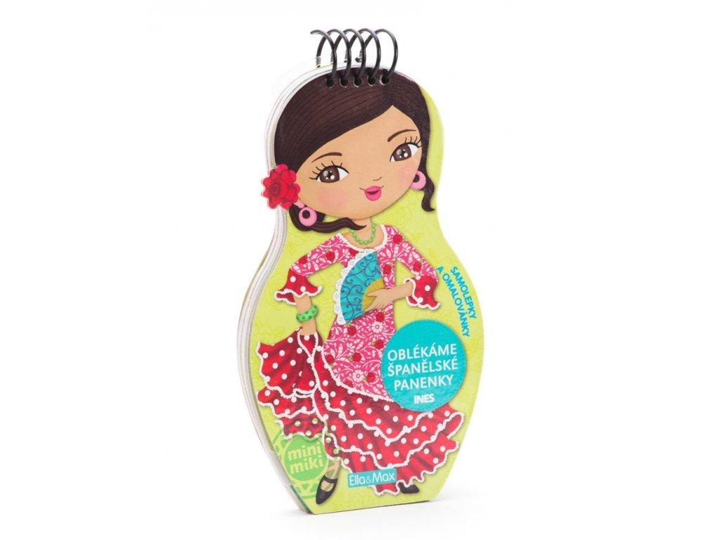 PRESCO GROUP Oblékáme španělské panenky Ines - omalovánky