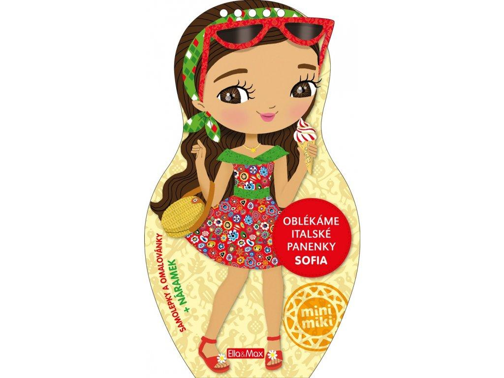 Oblekame italske panenky SOFIA Omalovanky