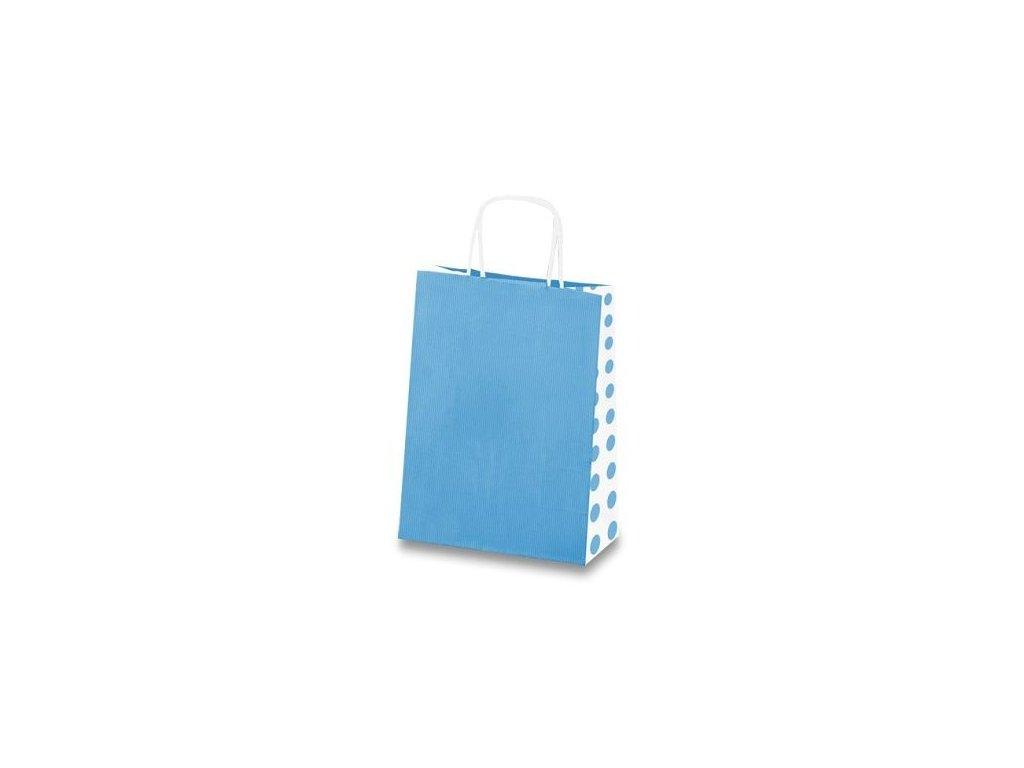 Dárková taška Tinta Unita Dots - Světle modrá