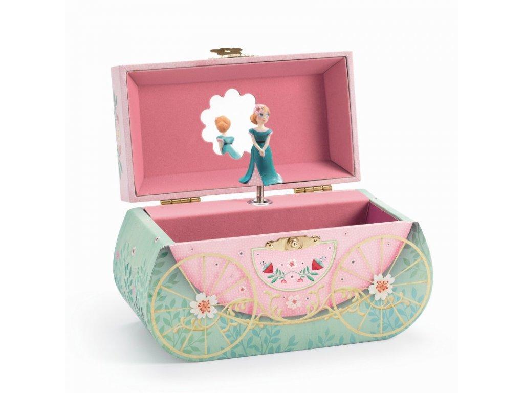 DJECO Hrací skříňka - Kouzlený kočár