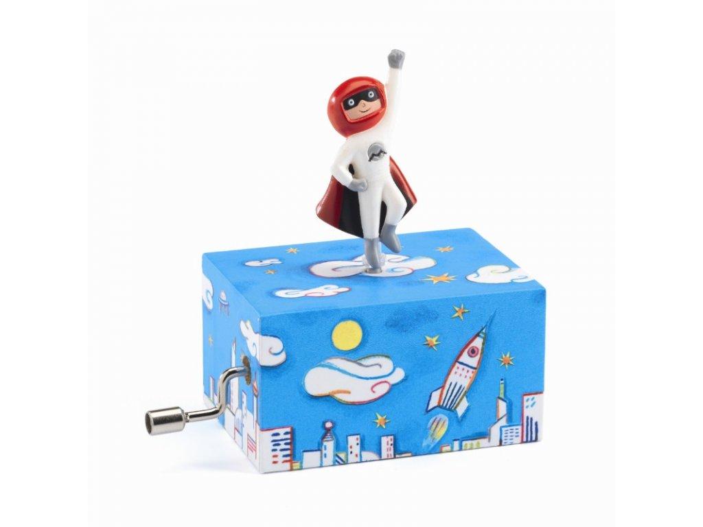 DJECO Hrací skříňka malá - Vzhůru do vesmíru