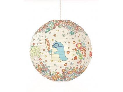 Papírový lustr - Tučňák a kamarádi