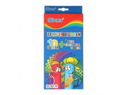 Barvy temperové 12 ml - sada 11 ks