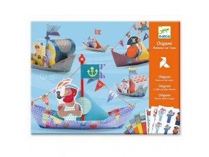 Origami skládačka - Plovoucí lodě