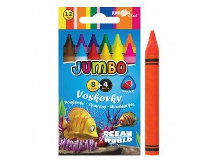 Voskovky Ocean World trojhranné JUMBO 12 ks