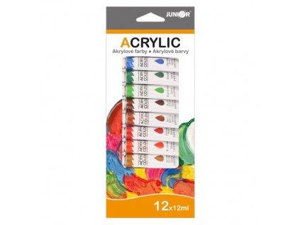Barvy akrylové 12ml x 12 ks