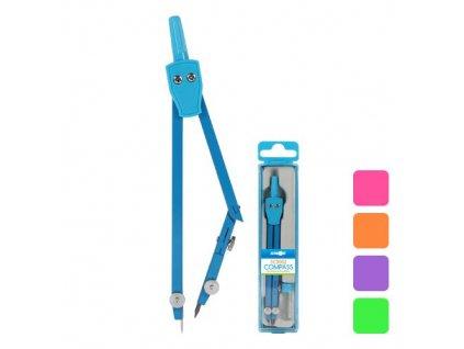 Kružítko školní SC3002 barevné + tuha
