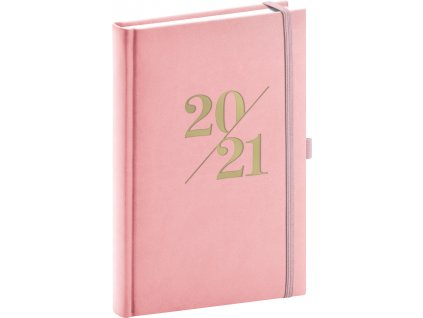 Denní diář Vivella Fun 2021, růžový, 15 × 21 cm