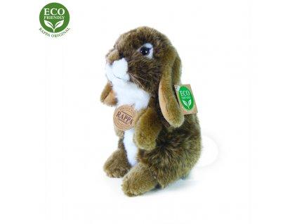 Plyšový zajíc hnědý stojící, 18 cm, ECO-FRIENDLY