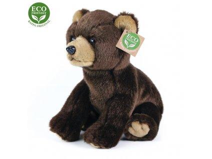 Plyšový medvěd sedící, 25 cm, ECO-FRIENDLY