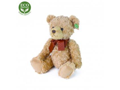 Plyšový medvěd retro s mašlí, 30 cm, ECO-FRIENDLY