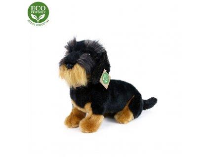 Plyšový pes jezevčík drsnosrstý, 30 cm, ECO-FRIEND