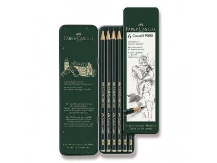 Grafitová tužka CASTELL 9000 plechová krabička 6ks