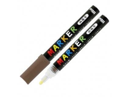Popisovač M & G Acrylic Marker 2 mm akrylový, Brow