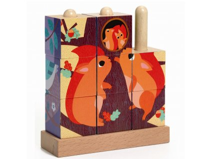Dřevěné kostky Pop-up - Les