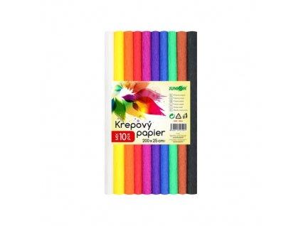 Krepový papír JUNIOR - sada 10 ks