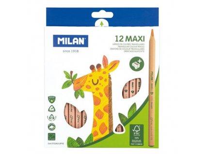 Pastelky MILAN Maxi trojúhelníkové 5 mm 12 ks