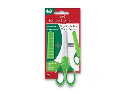 Školní nůžky GRIP - zelené